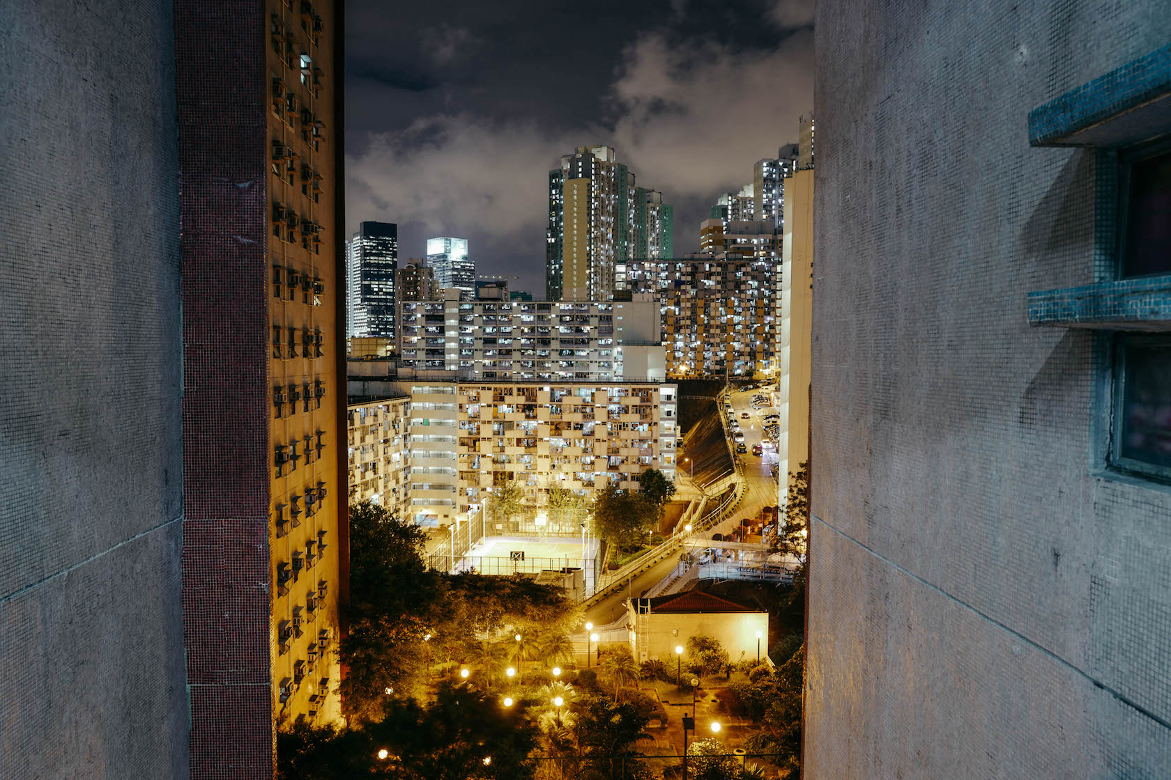 Hong Kong Lights Cityscape at night architecture